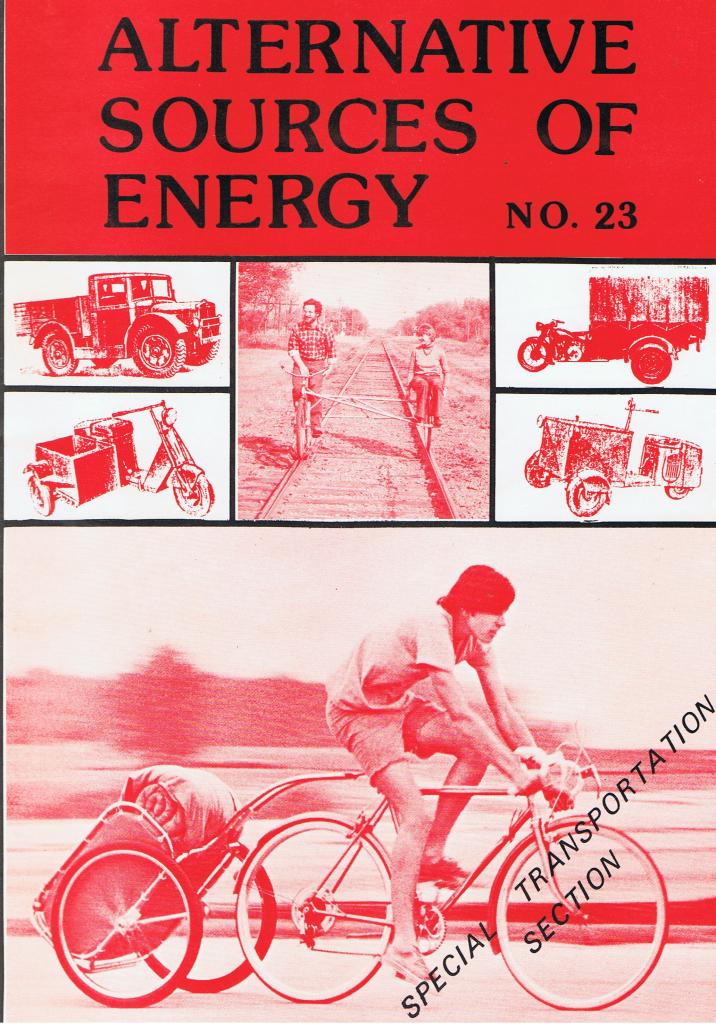 Número de Alternative Sources of Energy dedicado à energia do pedal (pedal power)
