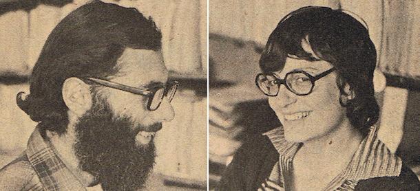 Abby Marier e Don Marier,  dois dos fundadores da revista Alternative Sources of Energy.