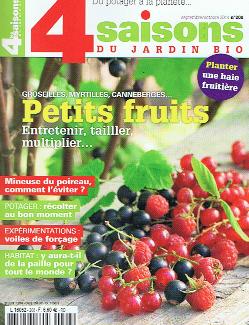 Remontando aos anos 1960, o movimento pela agricultura biológica em França ficou marcado pelos escritos de Claude Aubert e pela associação Nature & Progrès, antecedentes desta 4 saisons. Capa do n.º 208, de setembro-outubro 2014