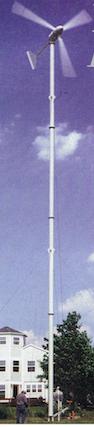 Uma eólica em pequena escala, alternativa localizada aos parques eólicos em massa