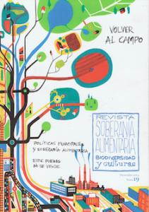 Capa da revista em espanhol Soberania Alimentaria, n.º 19, com o tema Regressar ao Campo (Volver al Campo)