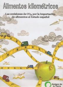 Capa do documento dos Amigos de la Tierra España sobre alimentos quilométricos