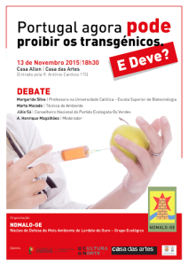 Debate transgénicos - 13 out